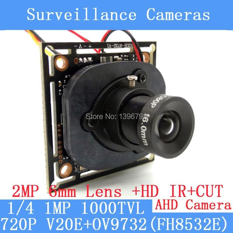 720P AHD Camera Module 1.0MP 1000TVL night vision 1080P 6mm Lens Surveillance Cameras ODS/ BNC Cable<br><br>Aliexpress
