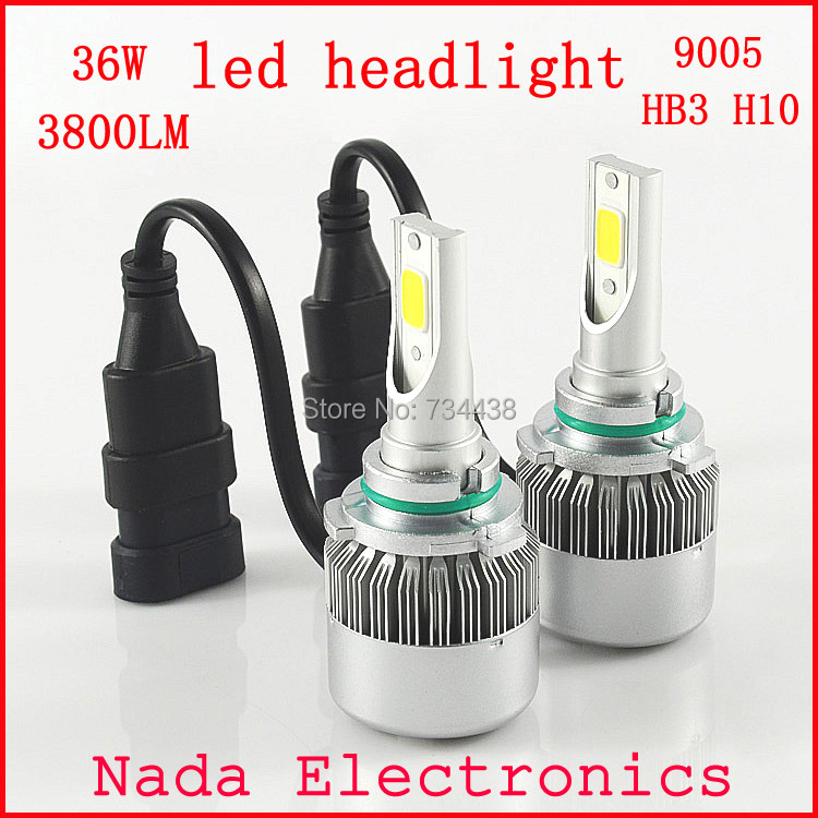 2pcs All In One led 9005 COB chip 36W 3800LM Car LED Headlight Kit Canbus No Error Beam DRL Driving Lamp Plug&amp;Play HB3 led bulb<br><br>Aliexpress