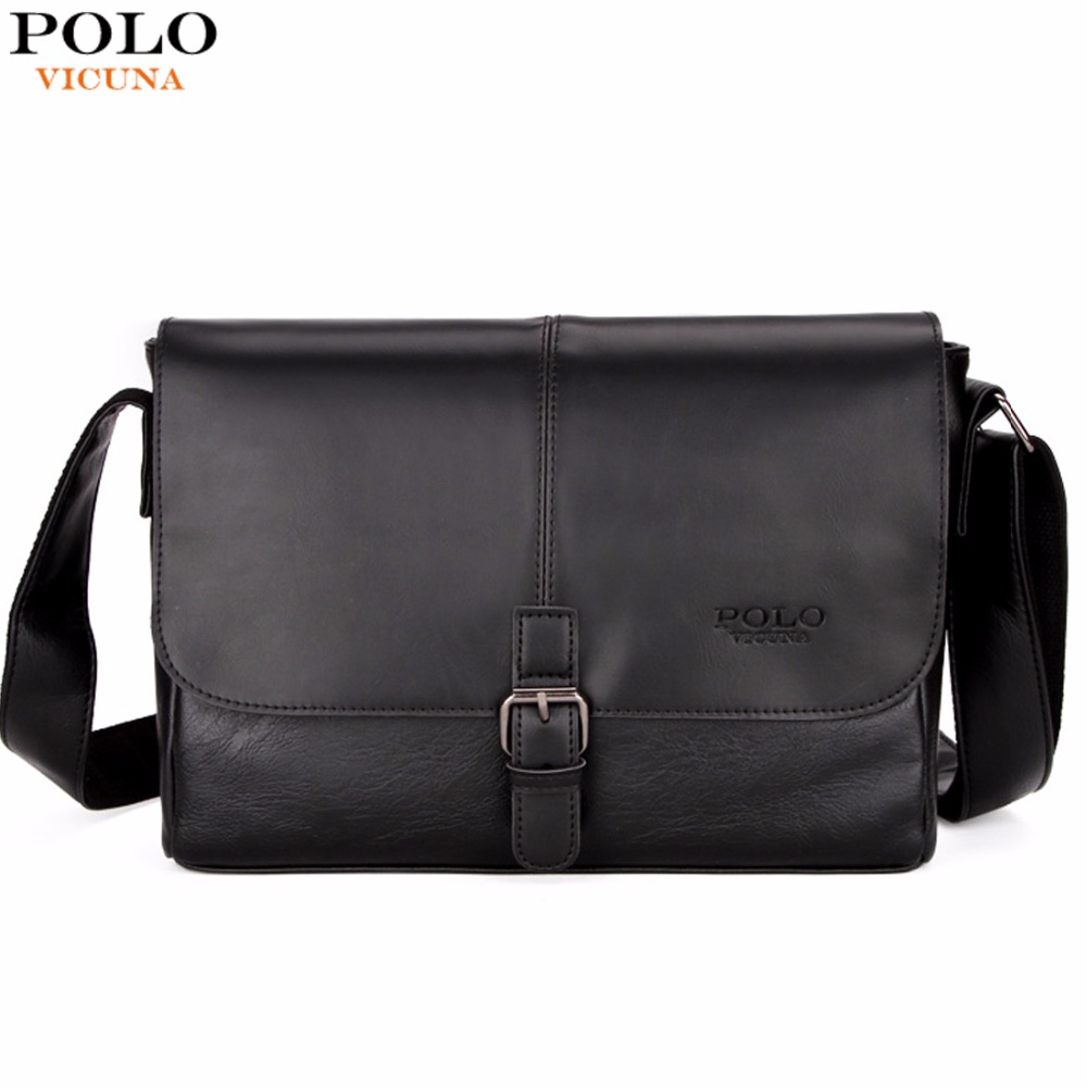 VICUNA POLO Fashion Patchwork Cool Mens Shoulder Bag With Clasp High Quality England Business Leather Mens Bags Crossbody Bag  <br>