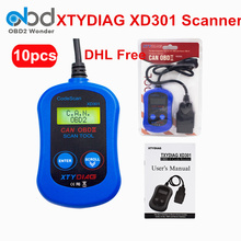 10 Pcs/Lot DHL Free XTYDIAG XD301 Car Diagnostic Tool 100% Original Automobile Code Reader Support CAN OBDII EOBD KWP2000 PWM(China)