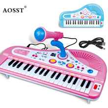 37 Keys Electone Mini Electronic Keyboard Musical Toy with Microphone early Educational Electronic Piano Toy for Children