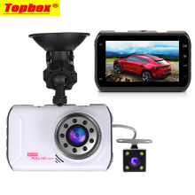 2017 New Dual Lens Car DVR Cam Dashcam 1080P FullHD Video Registrator Recorder With Backup Rearview Camera G-Sensor Night Vision