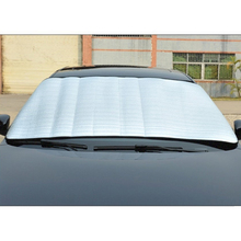 Window Foils Sun Shade Car Windshield Visor Cover Block Front Window Sunshade UV Protect Car Window Film Car Styling(China)
