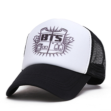 2017 NEW BTS embroidery baseball cap hoeden men women summer Shade truck driver network cap hats(China)