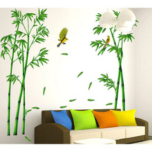 3D Bird Flying Bamboo Wall Stickers For Home Decoration DIY Wall Decor Wallpaper Living Room Sofa TV Back Ground Mural Arts S20(China)