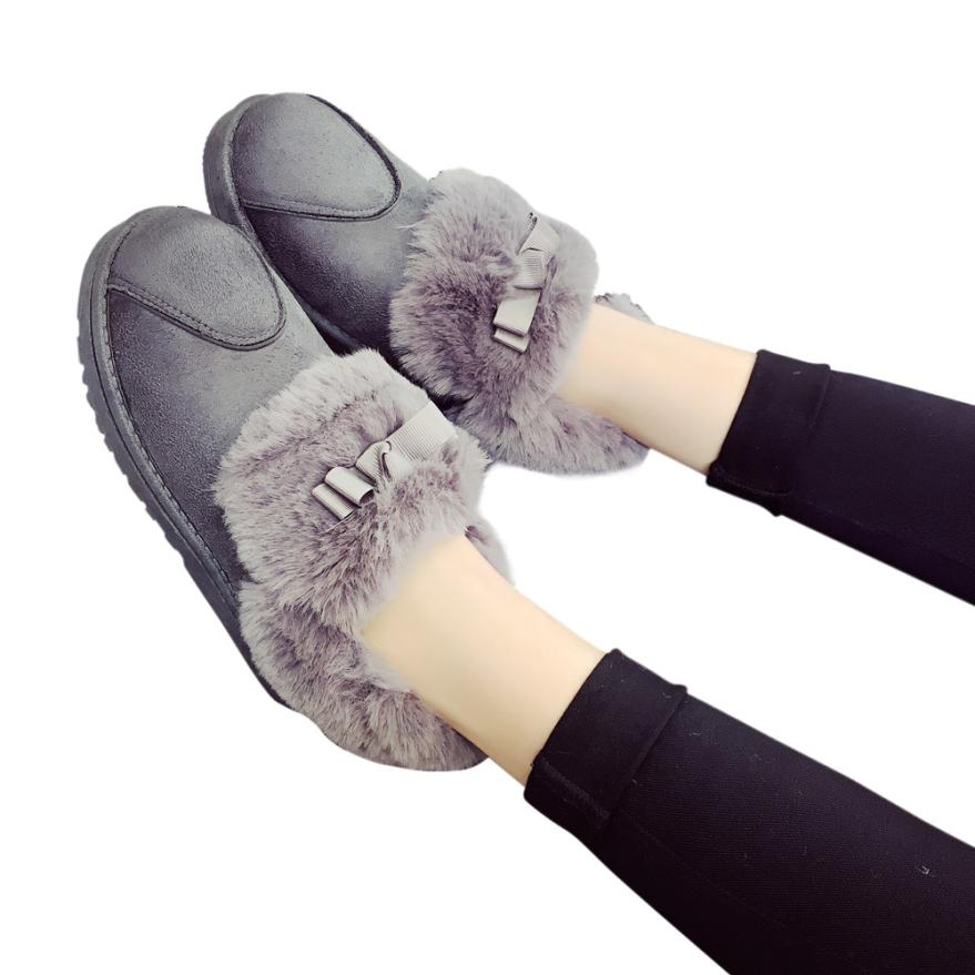 Female Flat Lace Up Fur Lined Winter Snow Ankle Boots Shoes Best Gift Wholesale Drop Shipping Dec30<br><br>Aliexpress