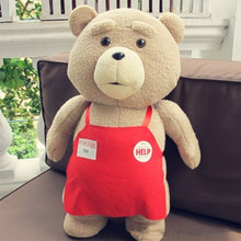 Big size Teddy Bear Ted 2 Plush Toys In Apron 45CM Soft Stuffed Animals Ted Bear Plush Dolls for baby kids gifts(China)