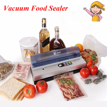 1pc Full-Automation Small Commercial Vacuum Food Sealer Vacuum Packaging Machine Family Expenses Vacuum Sealer DZ-320D