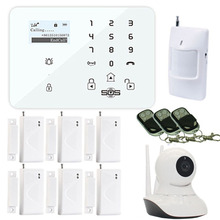 New K9 GSM Home House Burglar Alarm System Security GSM Wifi Camera Android IOS Wireless 3G/GSM SMS Alarm Camera WiFi IP W12G