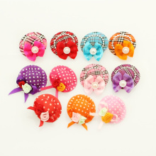 Armi store Handmade Accessories For Dog Cute Alligator Clip Hat Ribbon Bows 6011020 mix color 5 pair