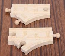 Christmas Gift Short Icesnow Two sided small Y2 piece set fit Thomas and Brio Wooden Train Educational Boy/ Kids Toy