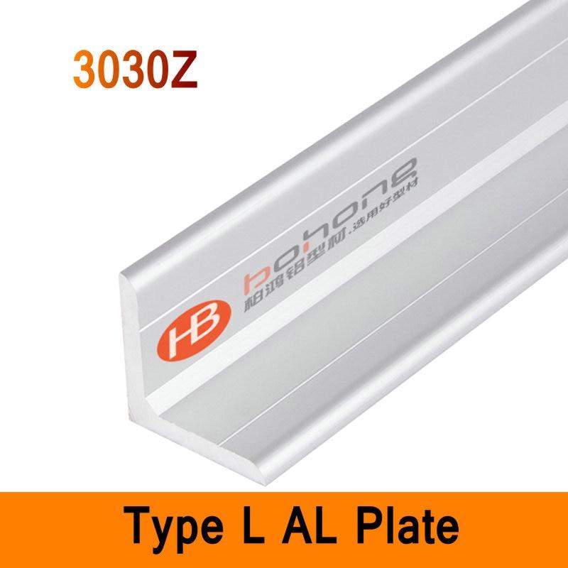 3030Z Type L Aluminium Profile Long Angle Plate EN Standard DIY Brackets AL 3D DIY Printer Frame Metal Connector Workbench<br>
