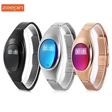 Zeepin Z18 Women Smart Band Bracelet with Heart Rate Blood Pressure Monitor Fitness Tracker Pedometer Smart Watch(China)