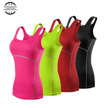 YEL Hot 2017 Girls Skinny Sportswear Compression Fitness Tights Gym Yoga Shirt Run Sports suit Women Bodybuilding Crop Tank Tops