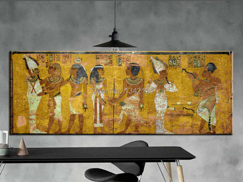 Vintage Egypt Pharaohs king tut mural Home Decor picture cuadros ...