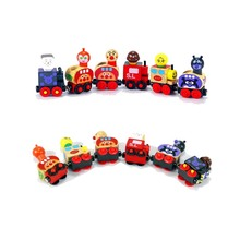 6pcs/lot Magnetic wooden Animal doll Train toys railway set