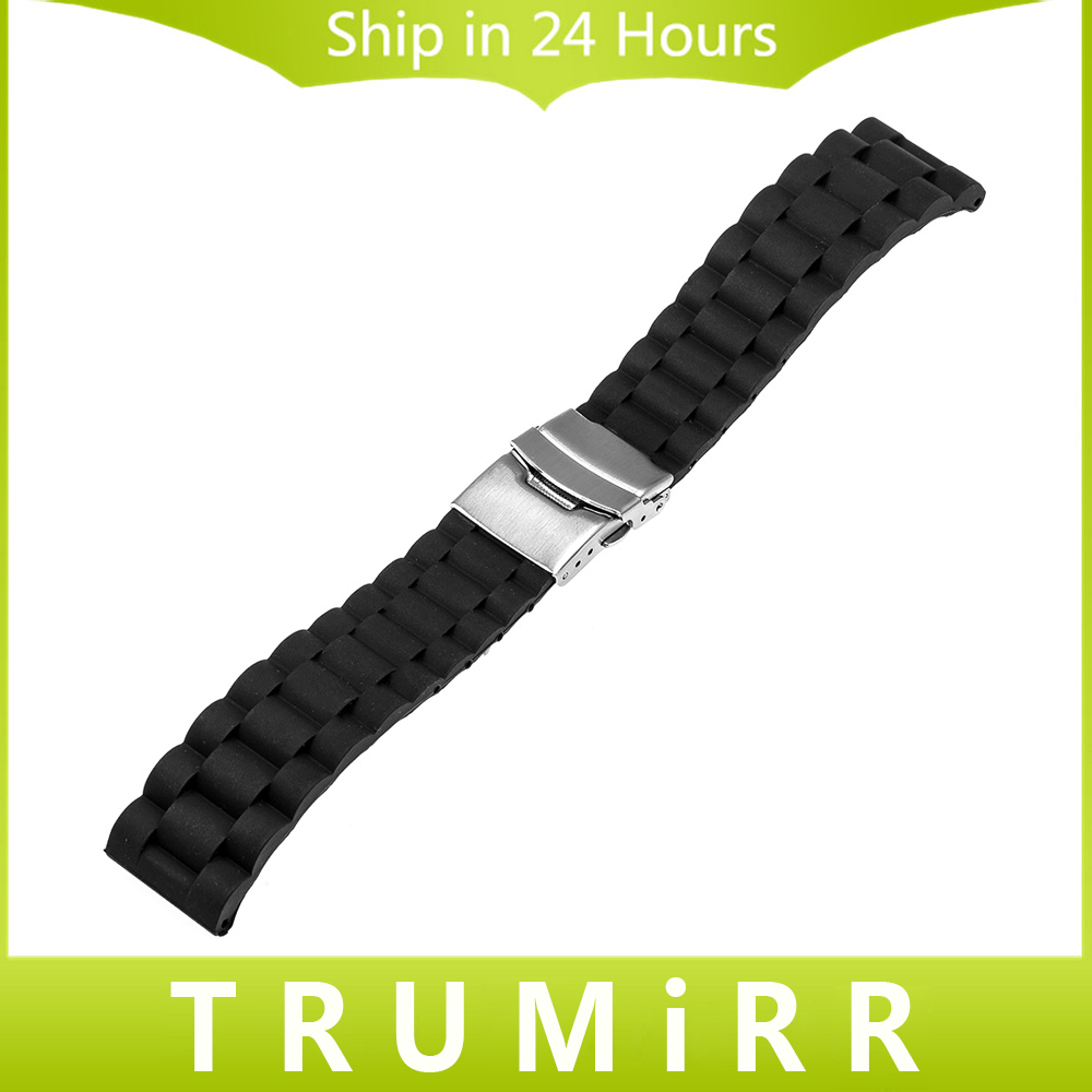 22mm Silicone Rubber Watch Band for Samsung Galaxy Gear 2 R380 R381 R382 Moto 360 2 46mm Stainless Steel Buckle Strap Bracelet<br><br>Aliexpress