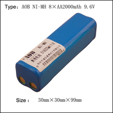 With Plug 8*AA 2000mAh AA 9.6V NI-MH Rechargeable Batteries NIMH Battery Pack For vacuum cleaner