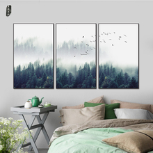 Landscape Canvas Painting Tree Wall Art Poster and Prints Nordic Modern Home Decoration Canvas Art Sets Wall Pictures(China)