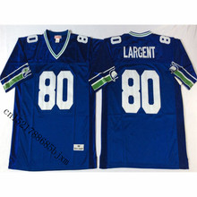 Mens Retro 1985 Steve Largent Stitched Name&Number Throwback Football Jersey Size M-3XL(China)