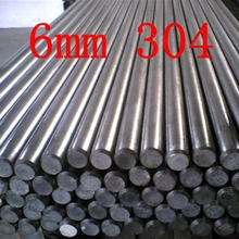6mm 304 Stainless Steel Round Bar Rod  6mm dia