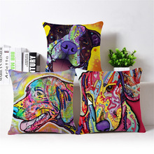 Active Dog Cushions Colorful Print Throw Pillow Cushion Designs Couch Throws Cushions Sofa Decor Couch
