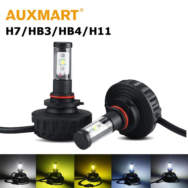 Auxmart 40W/SET H7 HB3 9005 HB4 9006 LED Headlight Cree Chips LED Light Bulb Auto 3000k 4300k 6500k 8000k 10000k DC 12V 24V<br><br>Aliexpress