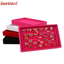 Jewelry Rings Display Velvet Stud Earrings Case Jewelry Storage Box Women Girl Gift Amazing 2017