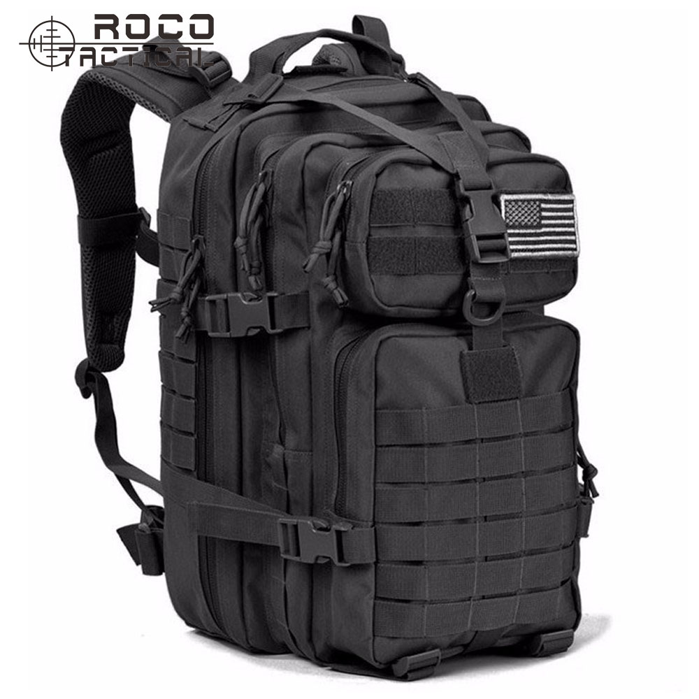 ROCOTACTICAL US Army Assault Tactical Backpack 34L Double Shoulder Molle 3P Attack Patrol Backpack Military Hiking Backpack<br>