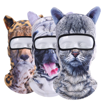 Animal Ear Balaclava Full Face Mask Bicycle Motorcycle Fishing Hats Snowboard Party Halloween Winter Warmer Cat Dog