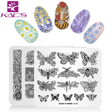 KADS 15 Design Choice 1pc New Arrival Flower Theme Style Design Lace Image Nail Art Decorations Stamp DIY Image Polish Stamp(China)
