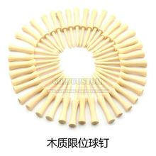 Free shipping 100Pcs  54mm 70mm 83mm Mixed Color Wood Double-deck Golf Tees Golf Ball Tees