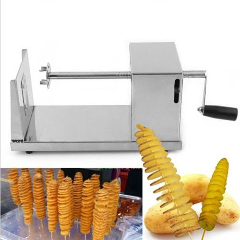 Hand mini stainless steel potato spiral cutter potato chips cutter<br>