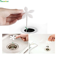 4Pcs 45CM Drain Hair Cleaning Hook Chain Catcher Sink Cleaning Tool For Bathroom Floor Shower Sewer