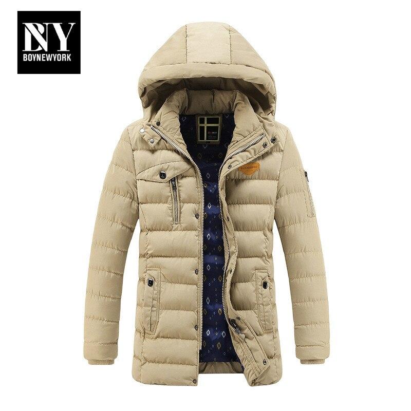 BNY Mens Warm Jacket Hoody Winter Coats Male Hooded Plus Size Jackets Teenager Slim Fit Windbreaker Down Parka Designer FitОдежда и ак�е��уары<br><br><br>Aliexpress