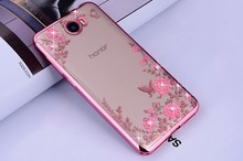 "Luxury Diamond Flowers Secret Garden Soft TPU Phone Case For Huawei Honor 5A LYO-L21 Case Russia Version 5.0"" & Gift(China)"