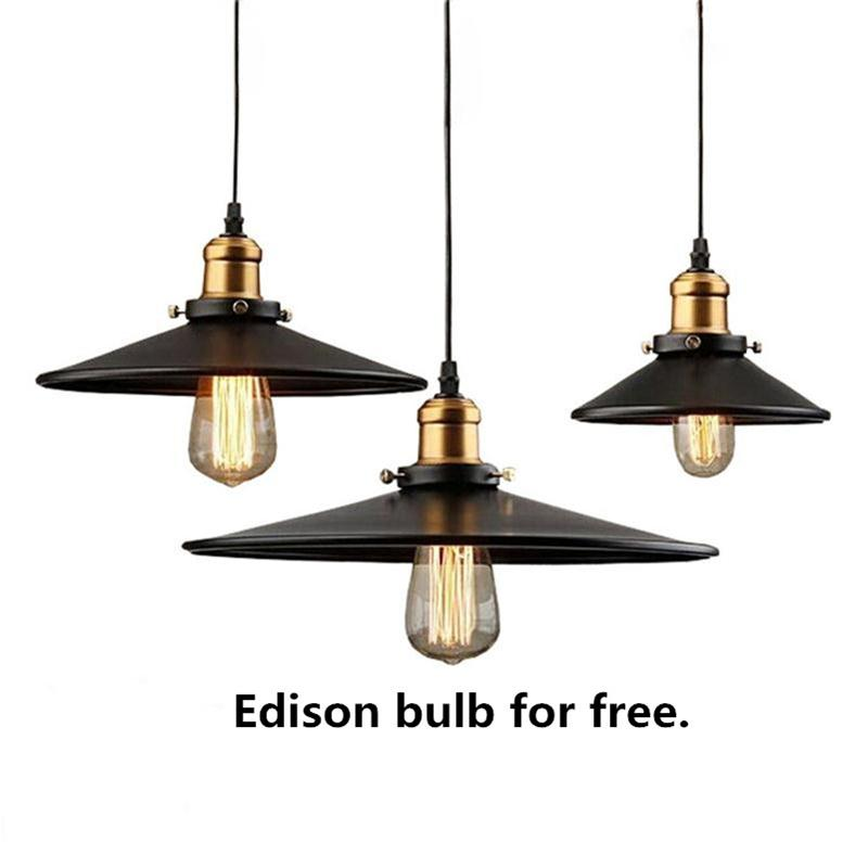 Vintage Edison Pendant Lights Iron Industrial Lighting Rope Suspension Hang Lamps Dining Living Room Bar Cafe Droplight Fixtures<br>