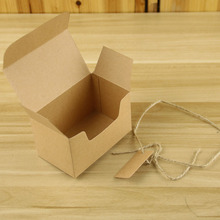 50PCS 10x6x6cm Natural Kraft Paper Box Gift Boxes Packaging Box for Present Wedding Favors Candy Box Party Supplies Carton Cajas