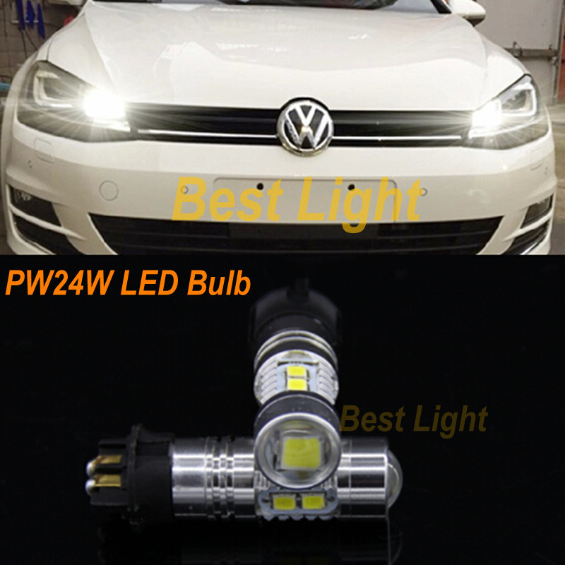 2x PW24W Canbus Turn Signal Or Daytime Running Light LED Bulb For 2013-up Skoda Octavia III Fit  Audi A3 A4 A5 Q3 VW MK7 Golf CC<br><br>Aliexpress