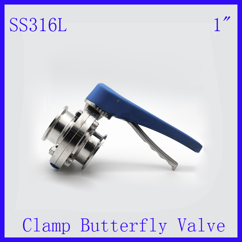 New Arrival 1SS316L Stainless Steel Sanitary Manual water Butterfly Valve Tri-clamp  w plastic Muti-Position Handle<br><br>Aliexpress