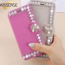 Buy KISSCASE Luxury Diamond Silk Skin Pearl Wallet Stand Leather Case Apple iPhone 5 5S SE Phone Cover Elegant Full Protective for $3.99 in AliExpress store