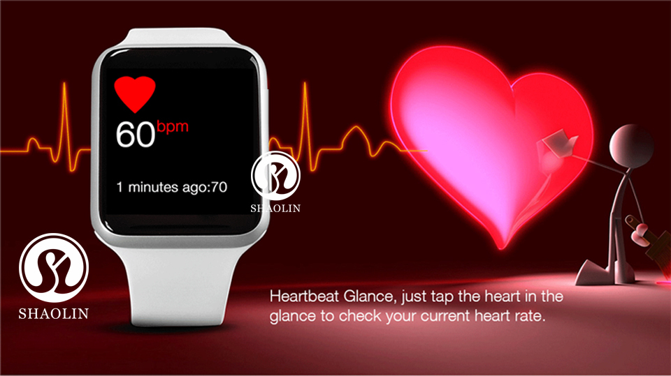SHAOLIN Bluetooth Smart Watch Heart Rate Monitor Smartwatch Wearable Devices for iPhone IOS and Android Smartphones apple watch-18