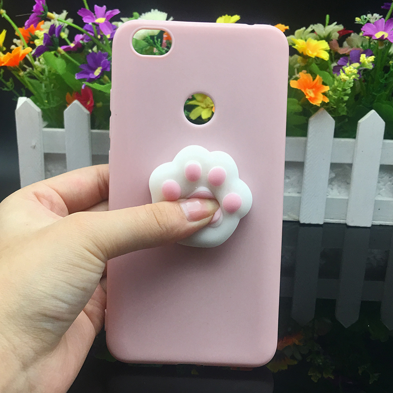 3d Squishy Cat Silicon TPU Soft Case For Xiaomi Redmi 5 plus 4X 4A 3S note 5 pro Candy Color Back Cover Redmi 5A prime 3 4 Cases (13)