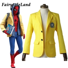Spider-Man Homecoming Peter Parker Yellow jacket Halloween costume Spiderman Cosplay costume Spider man Blazer custom made