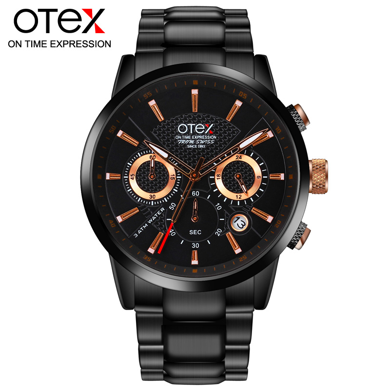 OTEX Luxury Top Brand Analog sports Wristwatch Display Date Mens Quartz Watch Business Watch Men Watch relogio masculino X1029<br>