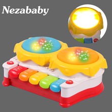 Hot Baby Plastic Toys Kids Music Toys Child Piano Toy Hand Drum Kids Educational Toys Child Christmas Gift TY30