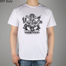 baby ganesha Colouring Pages  T-shirt Top Lycra Cotton Men T shirt New DIY Style