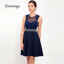 Newest Design 2017 Dresses Sexy Women Spring Summer Chiffon Dress Women Party Casual Lace Pleated Dress Vestido De Renda C2787(China)