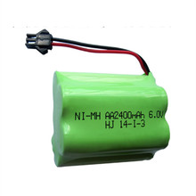 1PCS 6v battery 2400mah ni-mh bateria 6v nimh battery pack 6v size aa rechargeable ni mh for lighting rc car toy electric tools