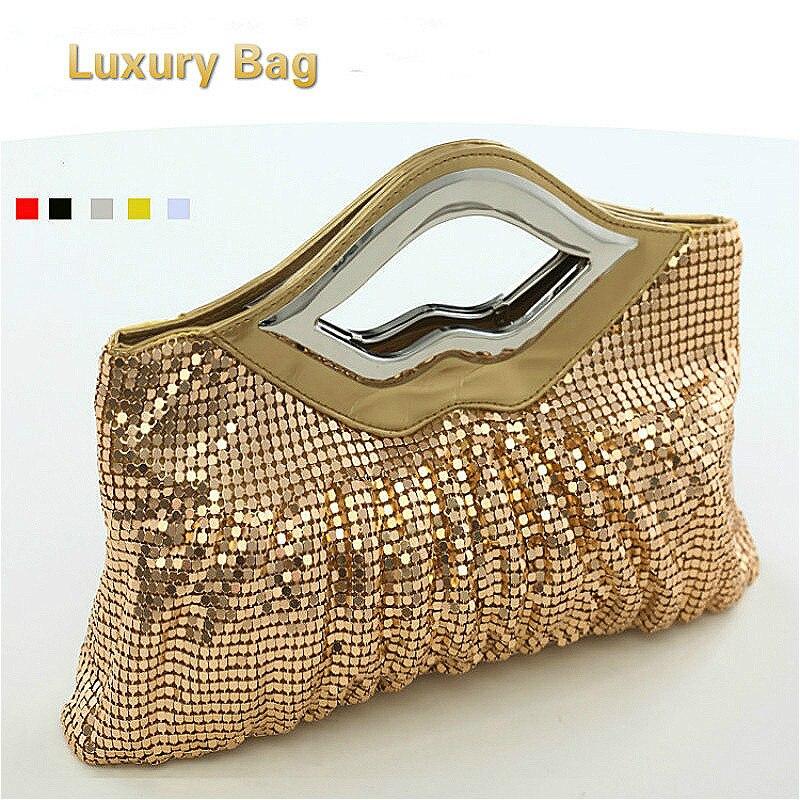 Luxury Crystals 2017 Women Evening Bags Designer Lips Female Clutch Purses and Handbags for Wedding sac a main femme de marque<br>